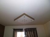 Γυψοσανίδα οροφής με σποτ σε σχήμα ρόμβου